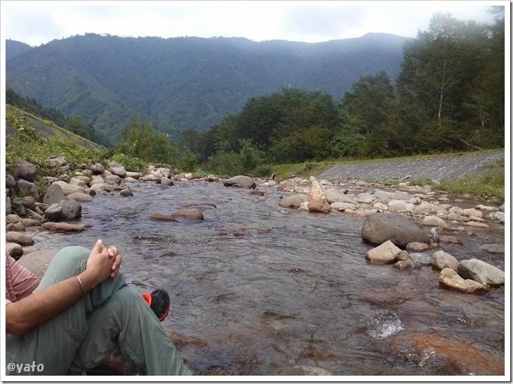 中荒沢川で涼む