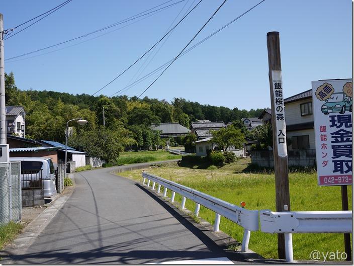 飯能桜の森入り口 中居交差点