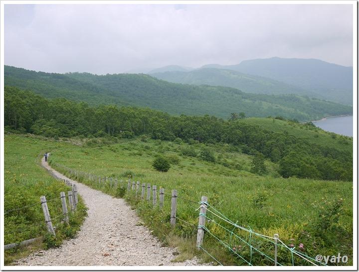 野反湖富士見峠からの道