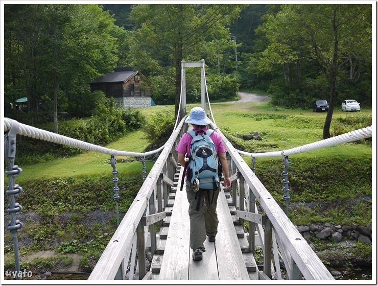 銀山平キャンプ場 吊り橋