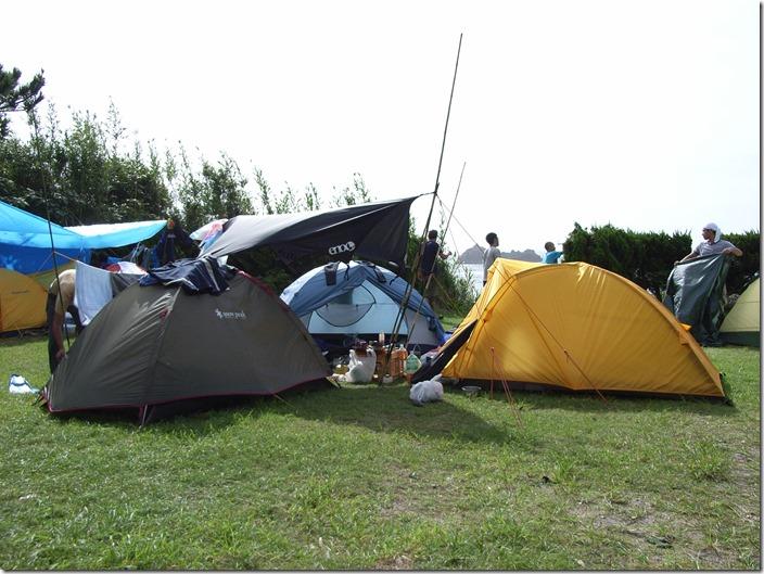 式根島釜の下キャンプ場