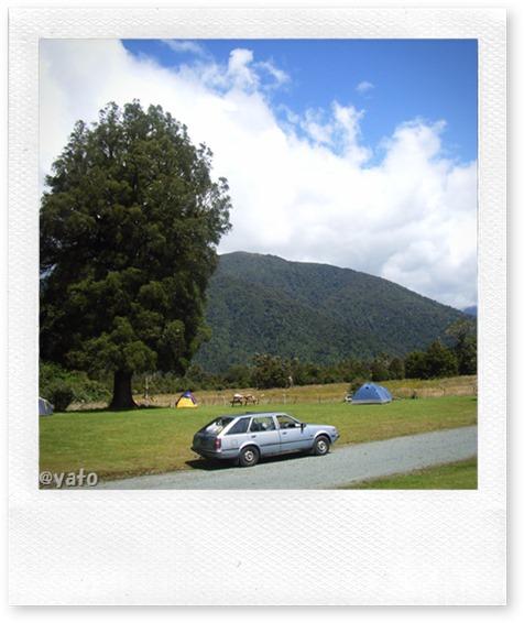 ニュージーランドのキャンプ場