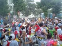 みんなびしょ濡れ、ねぶた祭り