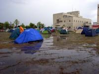 ねぶたサマーキャンプ場水浸し