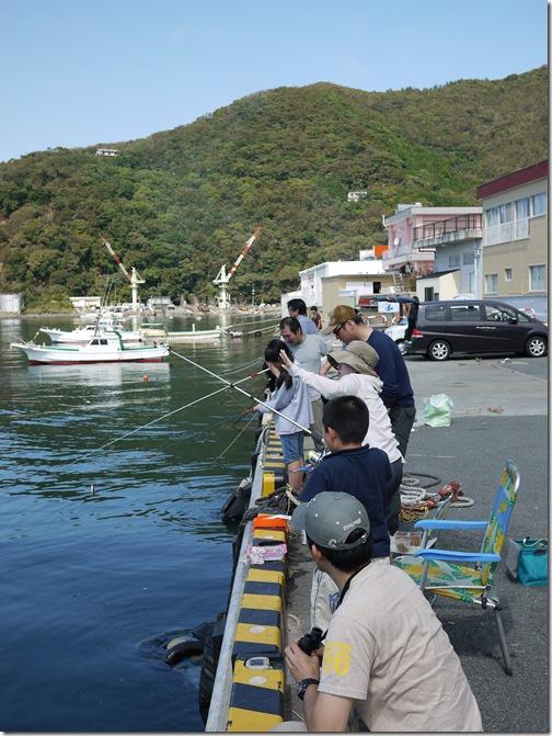 戸田港で釣り