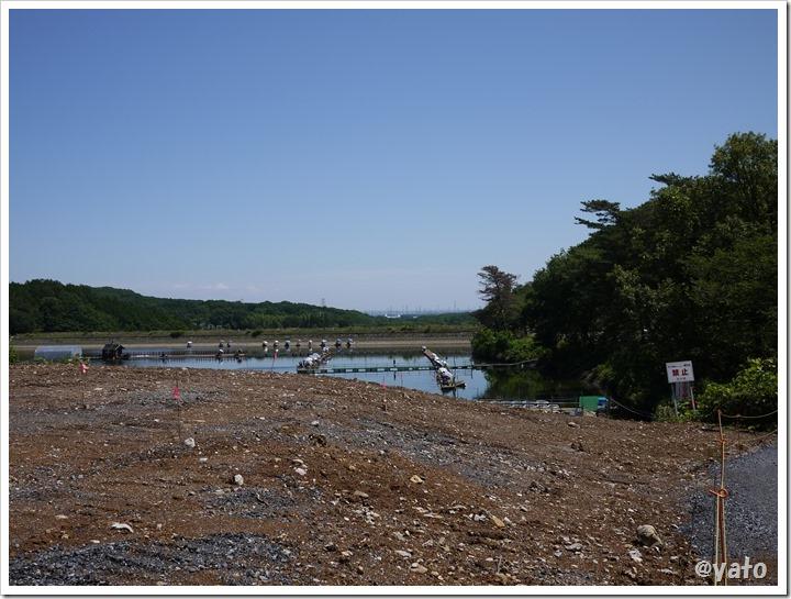 宮沢湖 なんかあった跡
