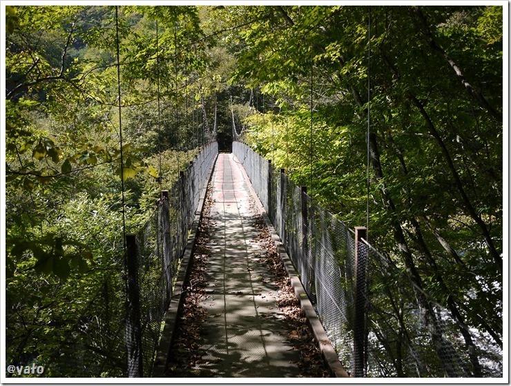 西沢渓谷 吊橋